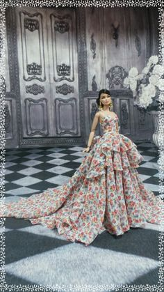 3a9d8efd4d53 Fashion Royalty Silkstone Evening Dress Gown Outfit for Dolls 12