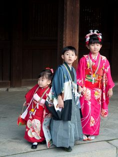 Shichi-go-san is celebrated on Nov. 15 in Japan, celebrating children that are 3, 5, & 7.  The family prays for the happiness and health of their children, then treats them with traditional sweets after.