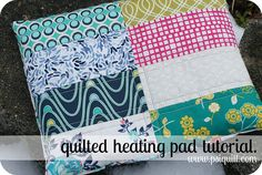 Quilted heating pad.  What is nice is the quilt part is like a pillowcase, and you insert the rice bag.  Good if you want to wash the cover.