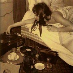 Women with vinyl