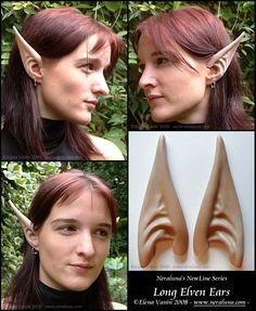New long elven ears by ~Lluhnij on deviantART