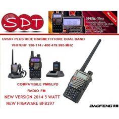 BAOFENG EU VERSION UV5R+ PLUS DSP  RICETRASMETTITORE DUAL BAND VHF/UHF 5 WATT