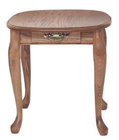 #6561 Queen Anne http://www.theoakfurnitureshop.com/products/solid-oak-queen-anne-end-table-with-drawer-21-x-25/