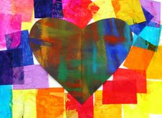 For the Love of Art: Jim Dine We did this one for our February unit as it seemed appropriate even though I'm not a big Velentine's person. Worked wonderfully but the kids finished much faster than I did!