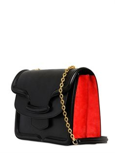 Alexander McQueen FW2013/14: HEROINE LEATHER & SUEDE BAG WITH CHAIN