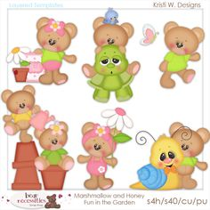Marshmallow & Honey Fun In The Garden [KW_mmh_fitg_temps] - $5.00 : Kitten Scraps