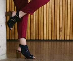 Blue Shoes with Burgundy Pants