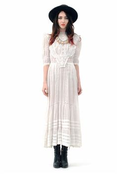Coronado Victorian Crochet Lace Dress