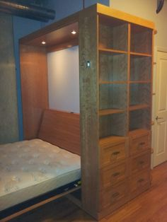 Bed with shelving