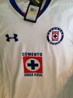 37d1eacac64 UNDER ARMOUR CRUZ AZUL MEXICO SOCCER FUTBOL NEW WITH TAG JERSEY size M Men