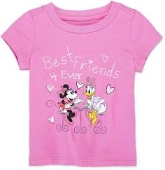Disney Baby Collection Minnie Daisy Graphic Tee $7.99 At JCPenney Pink Minnie & Daisy BFF glittery tee https://api.shopstyle.com/action/apiVisitRetailer?id=483948386&pid=uid841-37799971-81
