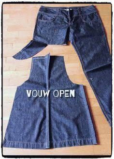 Excellent No Cost 26 Trendy Sewing Jeans - Diy Crafts Sewing Jeans, Sewing Aprons, Sewing Clothes, Denim Aprons, Jean Crafts, Denim Crafts, Rock Crafts, Diy Fashion, Ideias Fashion