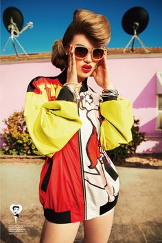 An ad for Joyrich's Betty Boop-inspired collection. [Courtesy Photo]