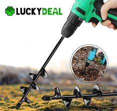🌿Perfect for Planting Bulbs, Plants, & Seedlings🌿Ultra high-quality Stainless Steel🌿 Compatible With All Drill Brands🌿100% Verified Customer Reviews The LuckyGarden™ is the ultimate tool for your everyday gardening tasks, and is perfect for planting bulbs, bedding plants and seedlings with ease. Its spiral pat Garden Yard Ideas, Garden Tools, Digging Holes, Pallet Shed, Vegetable Garden Design, Planting Bulbs, Types Of Soil, Flower Planters, Planter Boxes