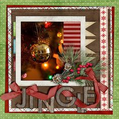 (Jingle) scrapbook page layout Christmas Scrapbook Layouts, Scrapbook Paper Crafts, Christmas Layout, Scrapbooking 101, Scrapbook Sketches, Scrapbook Page Layouts, Scrapbook Designs, Photo Layouts, December Daily