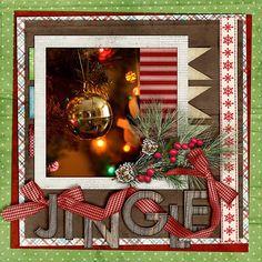 Jingle - I really like the way the ribbon is woven thru the title!