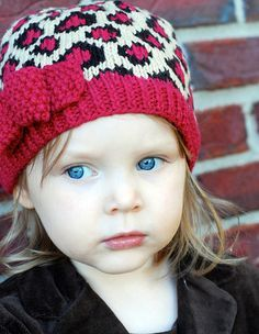 All about this precious little Uptown Girl hat! Think I'll give this one a try with some of my spare yarn