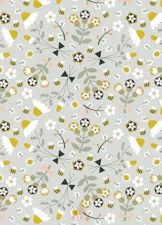 Chamomile floral pattern Art Print by Artipi | Society6