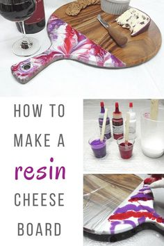 Resin cheese board DIY – How to paint a cheese board with resin – Resin Obsession – Resin Art – epoxyet Epoxy Resin Art, Diy Resin Art, Diy Resin Crafts, Acrylic Resin, Wood Crafts, Diy And Crafts, Arts And Crafts, Acrylic Pouring, Diy Epoxy