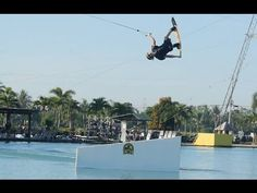 JB Oneill throwing down off the wave kicker here at CamSur Watersports Complex