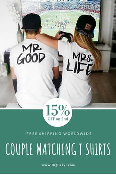 Cute Couple Outfits Ideas - Matching Tshirts  amp  Shirts for romantic  couples. Mr Good 7e4878b22