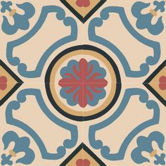 From the Classics Collection, made by Original Mission Tile, and Sold at Tango TileOriginal Mission Cement Tiles at Tango Tile Ceramic Tile Art, Cement Tiles, Patchwork Tiles, Tile Decals, Portuguese Tiles, Moroccan Tiles, Fun Hobbies, Tile Patterns, Pattern Wallpaper