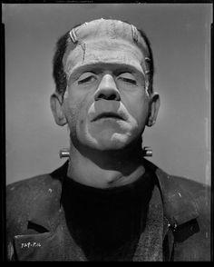 Jack Freulich :: Boris Karloff camera negative from Bride of Frankenstein, 1935 (MGM) Boris Karloff Frankenstein, Bride Of Frankenstein, Harlem Renaissance, Vintage Halloween Images, Halloween Photos, Halloween Stuff, Happy Halloween, Vintage Photos, Halloween Costumes