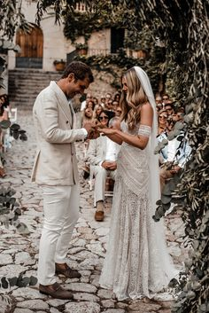 Boho Luxe Wedding Mallorca Finca Commasema | Pin discovered by Kelly's Closet bridal boutique in Atlanta, GA