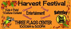 Large Banner from Staples - on sale for $10 each!  Free Fall Festival Saturday October 25, 2014