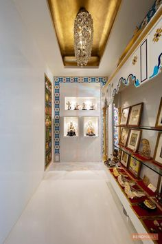 White Wall in Puja Room