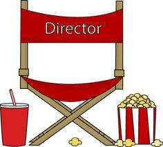 Directors Chair Popcorn and Drink