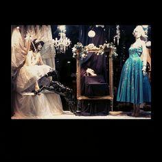 You shall go to the ball.... #vintage#christmas#windowdisplay#cinderella