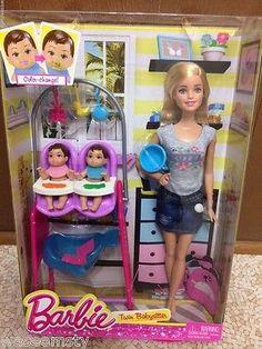 Barbie 2014 Twin Babá Baby Sitter Pés Chatos alimentação de mudança de cor Boneca Playset | Bonecas e ursinhos, Bonecas, Barbie contemporânea (1973 até o presente) | eBay!