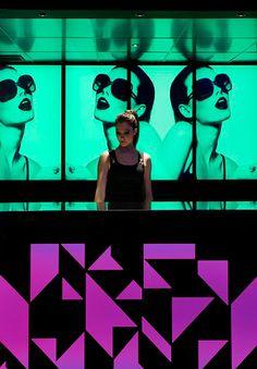 Barra videowall de Le Boutique Club, discoteca en Madrid