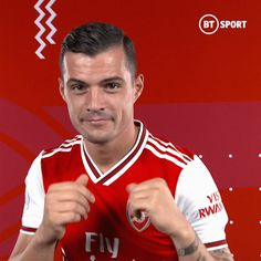 Discover & share this BT Sport GIF with everyone you know. GIPHY is how you search, share, discover, and create GIFs. Sports Gif, Granit Xhaka, Bt Sport, Football Gif, Arsenal Fc, Premier League, Superstar, Soccer, Kendall