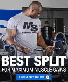 Maximize your muscular gains by utilizing this workout split! This split incorporates a breakdown of workout days, HIIT cardio days, and rest days! Split Workout Routine, Push Pull Workout, Ripped Workout, Workout Splits, Hiit Workout At Home, Workout Days, Cardio, Weekly Workout Routines, Monthly Workouts