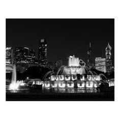 Chicago Grant Park Grayscale Postcard cityscape in black and white by Jennifer White Timeless Moments Photography. Postcards are also great for travel scrapbooking. Travel Photography Jobs, Chicago Photography, Photography Gifts, Photography Website, Chicago Travel, Chicago Shopping, Travel 2017, Travel Tours, Buckingham Fountain