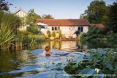 Design and construction of natural swimming ponds, natural swimming pools and natural pools throughout Norfolk, Suffolk, Cambridgeshire, Essex, Hertfordshire, Bedfordshire