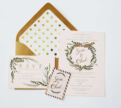invitations by the first snow <3 http://www.weddingchicks.com/2013/12/16/blush-gold-goodness-by-the-first-snow/