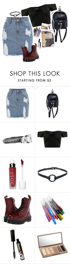 """""""succubus"""" by giriboy97 ❤ liked on Polyvore featuring Bottega Veneta, Boohoo, Dr. Martens, Glaze, TheBalm and Urban Decay"""