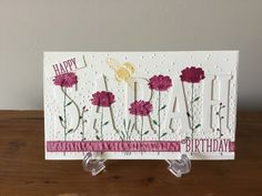 Eclipse birthday card #Happy birthday georgeous stamp set #Large letters framelets #Large Alphabet framelets