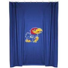 Kansas Jayhawks Shower Curtain in Bright Blue