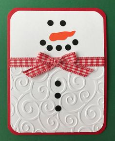 "Handmade ""Snowman"" Card, Merry Christmas, Snow, Handmade Card, by JuliesPaperCrafts on Etsy Homemade Christmas Cards, Christmas Cards To Make, Merry Christmas, Xmas Cards, Homemade Cards, Holiday Cards, Cricut Christmas Cards, Stampinup Christmas Cards, Happy Holidays Cards"