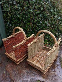 Log carrier basket by John Cowan Baskets