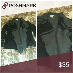 🌹🌹SALE!! Gray and black open cardigan🌹🌹 Very nice , EUC , purchased at boutique in Vermont , soft ,hits over hips.    Excellent quality Christopher & Banks Sweaters Cardigans