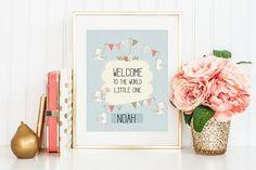nursery printable art by leela