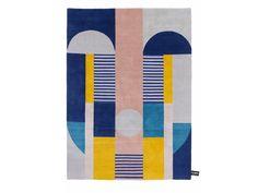 Tappeto rettangolare in lana a motivi geometrici ZO by cc-tapis ® design Studio Zaven