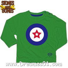 #StonesandBones #Baby Shirt Shoot Stars Green