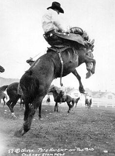 Saddle bronc..........looks like late 1940's