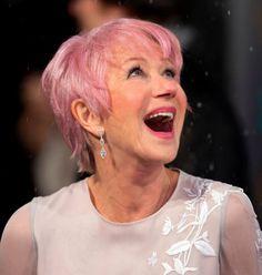 Helen Mirren Pink Hair